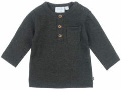 Antraciet-grijze Feetje longsleeve-Mini Person|Antra melange|MT. 50
