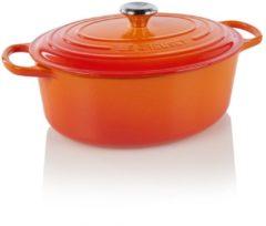 Le Creuset Gietijzeren ovale braadpan in Oranje-rood 31cm 6,3l