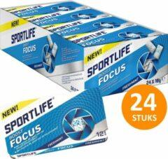 Sportlife Boost Focus Freshmint Suikervrij Kauwgom - Doos 24 stuks x 18 g