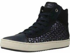Donkerblauwe Hoge Sneakers met Hartjesprint Geox