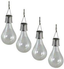 Transparante Luxform LED-Feestverlichting op zonne-energie 4 stuks doorzichtig 95420