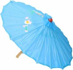 Merkloos / Sans marque Chinese paraplu lichtblauw 40 cm