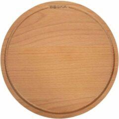 Bruine Boska Pizzaplank Amigo M - Serveerplank ⌀29cm - Beukenhout - Met opvanggeul - Rond