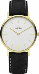 Gouden Danish Design watches edelstalen dameshorloge Ærø Silver Gold Medium IV15Q1231