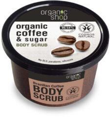 Organic Shop - Organic Coffee & Sugar Body Scrub Peeling Do Ciała Na Bazie Oleju Z Kawy I Naturalnego Cukru - 250ML