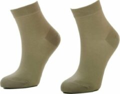 Marc marcs Marcmarcs dames Helsinki katoenen sokken 2 paar - 42 - Huidskleur