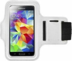 Samsung Galaxy S6 Edge Plus sports armband case Wit White
