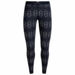 Icebreaker - Women's 250 Vertex Leggings Crystalline - Merino ondergoed maat S, zwart