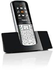 Gigaset SL350H Mobilteil, DECT, mit PC-Anschluss via Mini-USB, Echtmetall-Rahmen, pianoschwarz