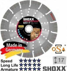 Zilveren Sameda Diamantdoorslijpschijf 350 x asgat 25,4/20mm Samedia Germany SHOXX UX17 - 310141 (Zwaar) gewapend beton
