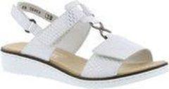Rieker sandaal, Sandalen, Vrouwen, Maat 39, wit