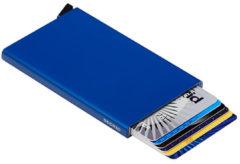 Blauwe Secrid Cardprotector creditcardhouder van aluminium
