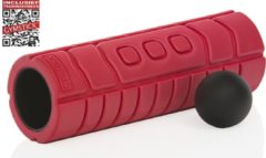 Rode Gymstick Travel Foam Roller met Myofascial Bal en Trainingsvideo's