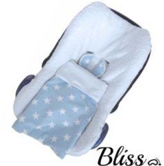 Bliss Babydeken - Wikkeldeken - Omslagdoek - Wiegdeken - Dekentje - Ster Lichtblauw