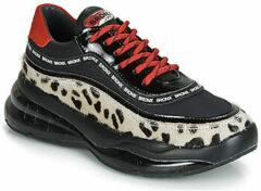 Bronx Bubbly Dalmatian leren sneakers zwart/wit