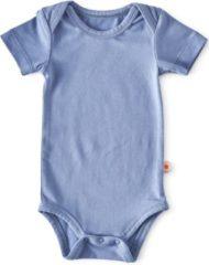 Donkerblauwe Little Label - baby - rompertje korte mouw - blauw - maat 50 - bio-katoen