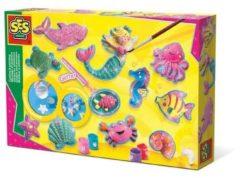Roze Figuren gieten en schilderen SES: .oceaanfiguren