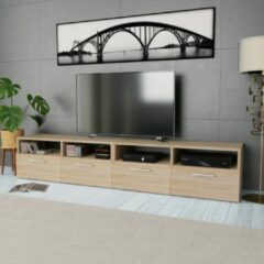 Bruine VidaXL Tv-kasten 95x35x36 cm spaanplaat eikenkleurig 2 st
