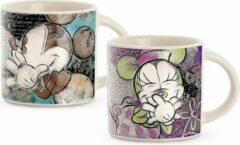 Turquoise Egan Disney Mickey Mouse espresso tassen 2 stuks