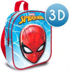 Spiderman schooltas 3D jongens 30 cm polyester/EVA blauw/rood
