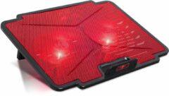 Spirit of Gamer Air Blade 100 15.6'' 1000RPM Zwart, Rood notebook cooling pad