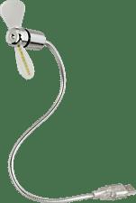 Hama USB ventilator met gekleurde LED Desktop accessoire Zilver