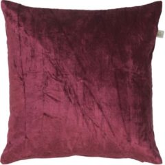 Bordeauxrode Dutch Decor Sierkussen Cido 45x45 cm bordeaux