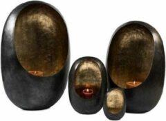 Zwarte De Duinroos Tealight Holder Standing Egg Zinc   Large