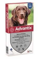 Advantix Spot On 400 4 ml - Anti vlooien en tekenmiddel - 4 pip 25-40 Kg