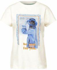 Street One T-shirt met printopdruk wit