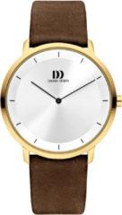 Gouden Danish Design watches edelstalen herenhorloge Anholt Gold Large IQ15Q1258