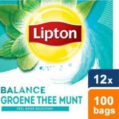 Lipton - Feel Good Selection Groene Thee Munt - 12x 100 zakjes