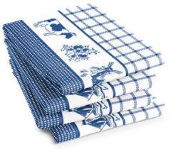 Blauwe DDDDD Theedoek Dutchie Blue (6 stuks)