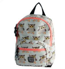 Grijze Pick & Pack-Rugzakken-Backpack Owl-Grijs