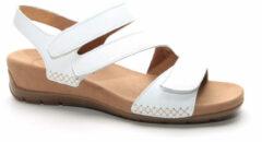 Witte Voetbed Sandaal