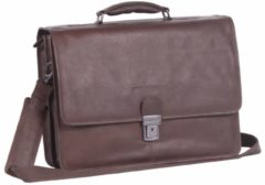 Chesterfield Business Overslagtas Shay met Laptopvak 15.6'' Cognac