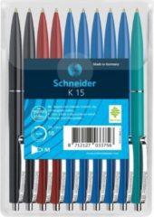 Boeketbinderij.be Schneider S-3081-2-3-4 Balpen K15 10s Assorti Kleuren In Headerbag
