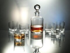Transparante Bohemia royal crystal Kristallen whisky set Boha 7 delig