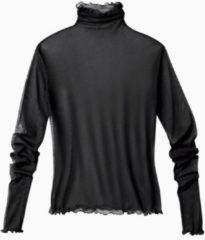 Enna Shirt met lange mouwen uit biologische zijde, schwarz 36/38
