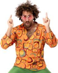 Oranje Original Replicas Hippie Kostuum | Jaren 70 Hippie Soul Disco 60s Agent Orange Shirt Man | Small | Carnaval kostuum | Verkleedkleding