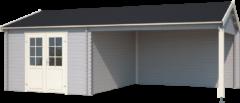 Outdoor Life Products Outdoor Life | Buitenverblijf Octavio | Platinum Grey | 681x380 cm