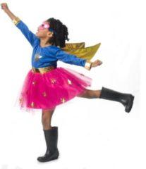 Blauwe Imaginarium PARTY SUPERHERO - Verkleedkleding Superheld Meisje - Maat 116-122
