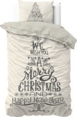 Dreamhouse Bedding Dreamhouse We wish you - Kerst Dekbedovertrek - Eenpersoons - 140x200/220 + 1 kussensloop 60x70 - Wit