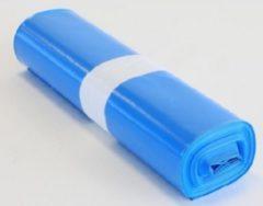 Blauwe VDZ LDPE afvalzakken / vuilniszakken 120 liter Blauw op rol 70x110cm T70 44my 200 stuks (10 rollen a 20 stuks)