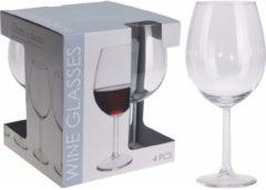Merkloos / Sans marque 8x wijnglazen transparant 580 ml - 8-delig - wijnglazen/drinkglazen