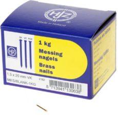 Klusgereedschapshop Messing nagels verloren kop 1.5 x 20mm 1kg