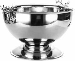 Emilie Scarves - Champagnekoeler extra groot - hertenkoppen - zilver