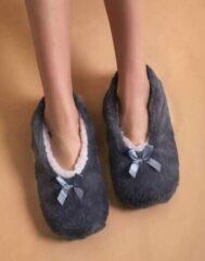 Sorprese cosy – pantoffels dames – grijs – maat 39-41 – sloffen dames