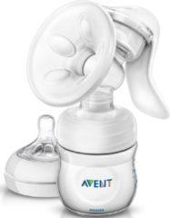 Witte Philips Avent SCF330/20 - Handmatige borstkolf met Philips Avent Natural babyfles (125 ml)