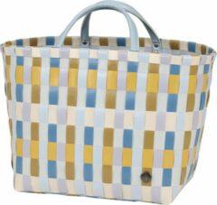 Blauwe Handed By Multitone Unisex Shopper Geel